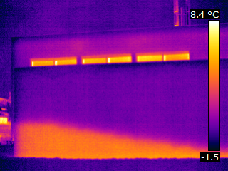 façade résultat thermographie infra-rouge